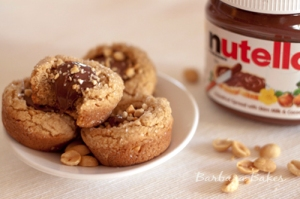 Peanut Butter Nutella Cookie Cups from Barbara Bakes