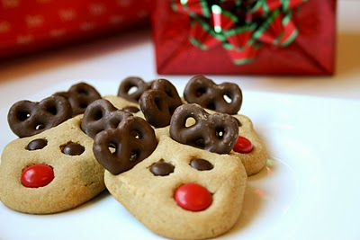 Peanut Butter Reindeer Cookies from Bakergirl at BuddingBaketress.blogspot.com