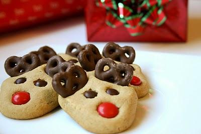 Peanut Butter Reindeer Cookies from Bakergirl at BuddingBaketress.blogspot.com