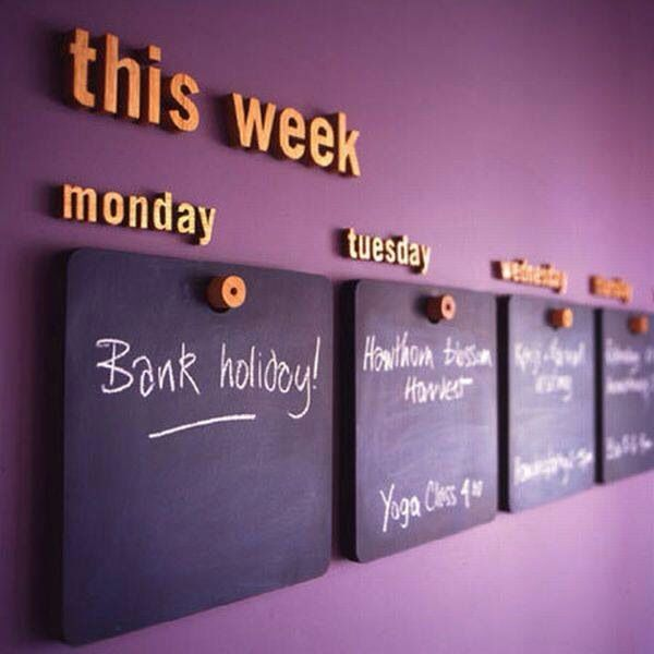Day of Week Chalkboards